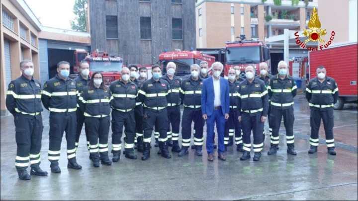 Il sindaco Coletta visita i Vigili del Fuoco del comando provinciale di Latina