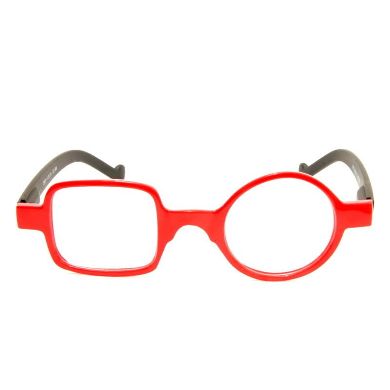 Reading Glasses Square Round Optivision 295P Red