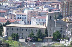 Uno dei più grandi edifici religiosi della Calabria: l'Abbazia florense di San Giovanni in Fiore (1215 -1230 d.c.) vista dal monte Gimmella - foto Gianluca Congi ©