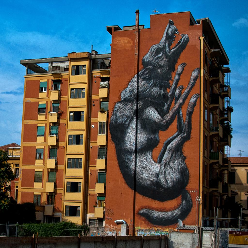 La street art di ROA a Roma