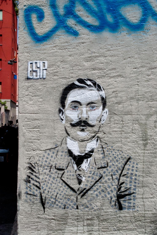 La street art di ESPI a Milano quartiere Isola