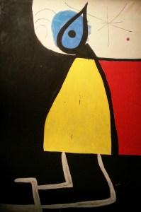 Joan Mirò - Donna nella notte, 1973 - Acrilico su tela