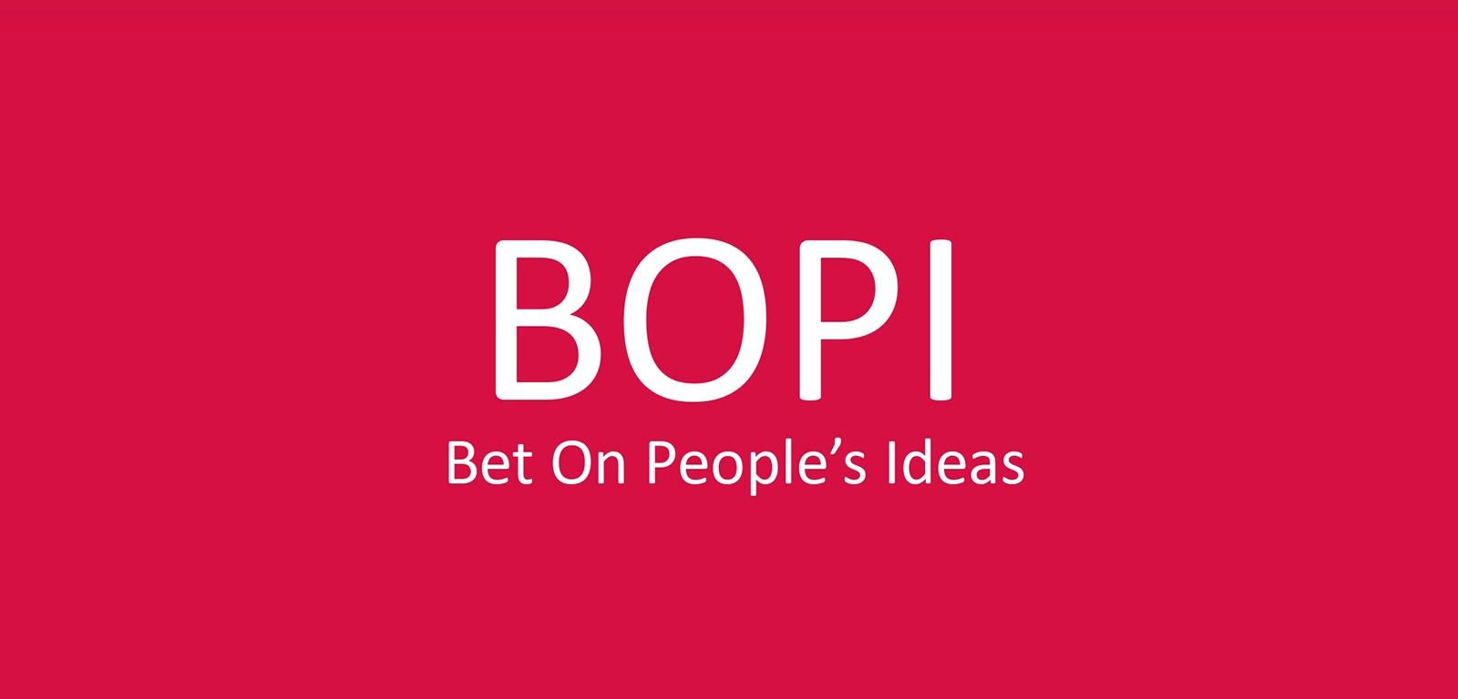 BOPI - bet on people ideas