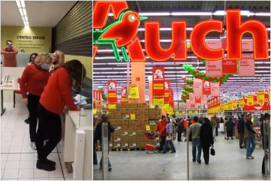 """L'Auchan al Vulcano Buono di Nola chiude, le lacrime dei dipendenti: """"Restiamo una grande famiglia"""""""