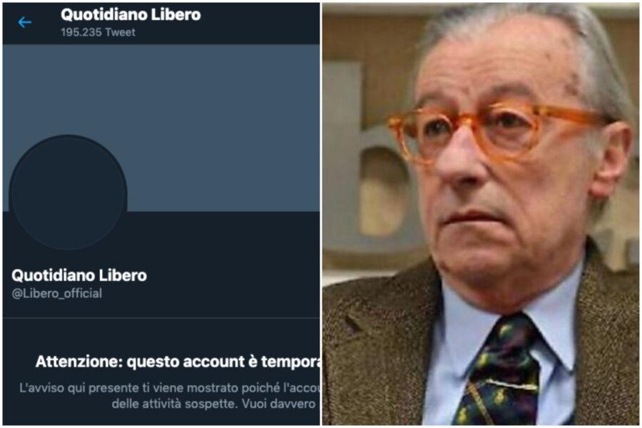 """Perché Twitter censura Libero, Vittorio Feltri: """"Come Trump, Banda di poveri ignoranti"""""""