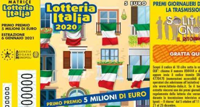 Lotteria Italia 2021, tutti i numeri dei biglietti vincenti: a Pesaro vinto primo premio da 5mln di euro