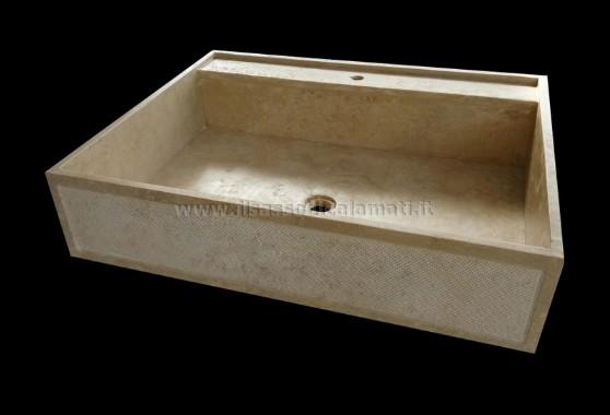 Lavelli da cucina in marmo e travertino Misure personalizzabili  Il Sasso di Calamati