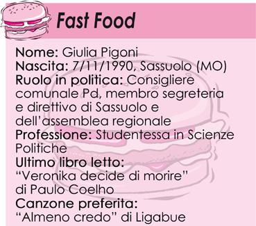 La scheda di Giulia Pigoni