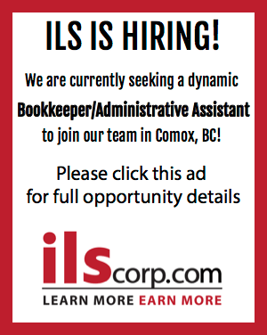 ILS is hiring! We are currently seeking a dynamic bookkeeper/administrative assistant to join our team in Comox, BC! Follow this link for more details.