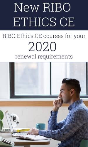 New RIBO Ethics CE courses for your 2020 renewal requirements