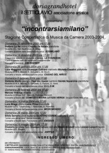 manifesto stagione 2003-2004