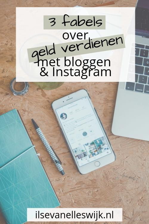 3 fabels over geld verdienen met bloggen en instagram