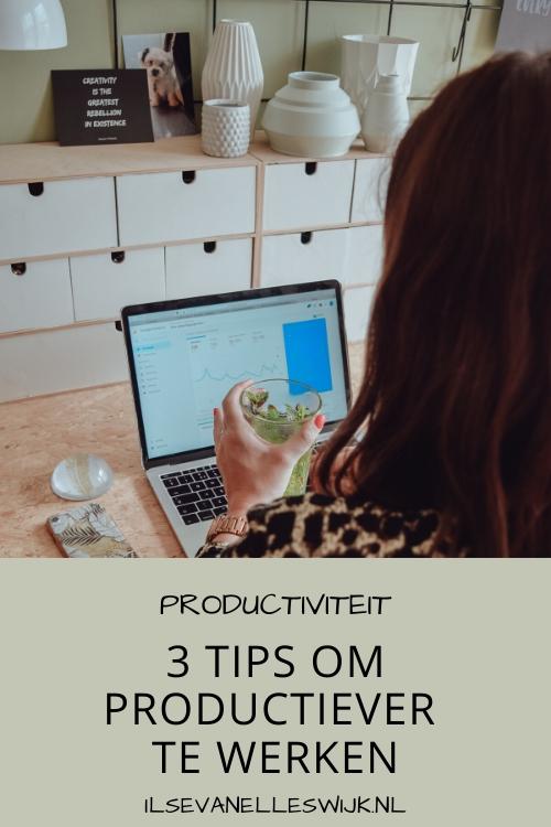 3 tips om productiever te werken