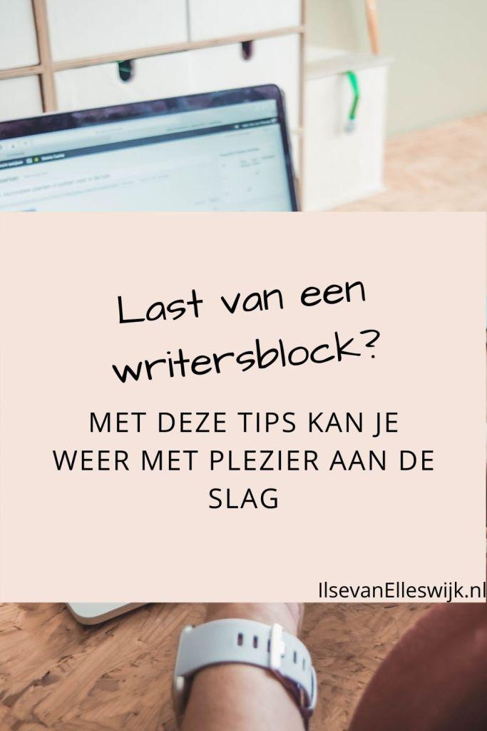 last van een writersblock?