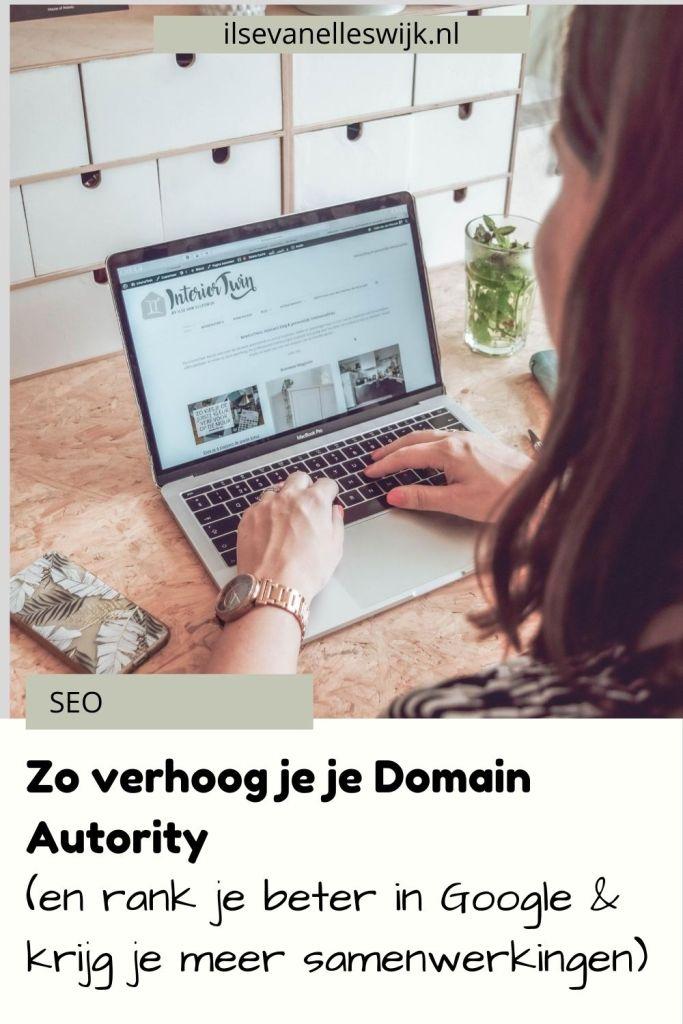 verhoog domain autority