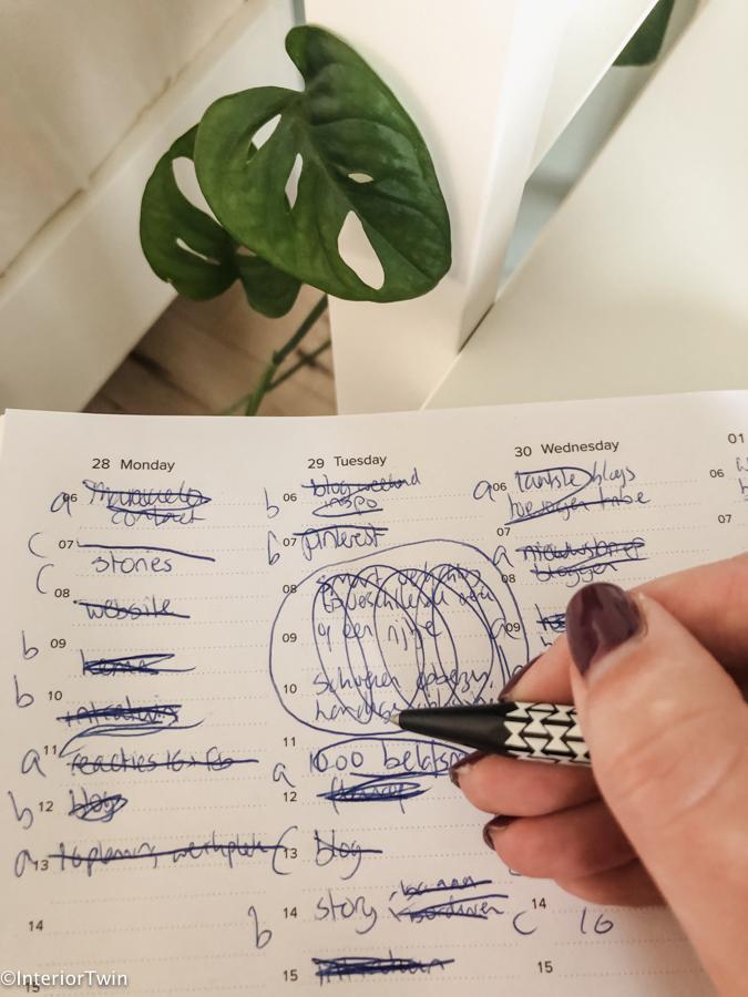 weekplanning maken op papier