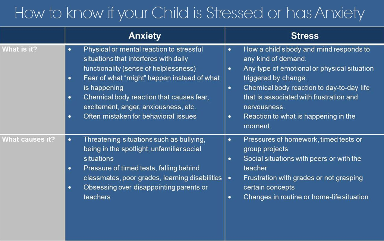 Anxiety Amp Behavior How To Know If Your Child Has Stress
