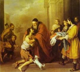 Murillo Bartolome Esteban - Il ritorno del figliol prodigo, 1670-74 - Washington National Gallery
