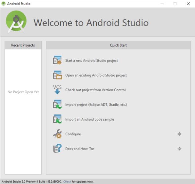 Creare app Android con il nuovo Android Studio 2.0
