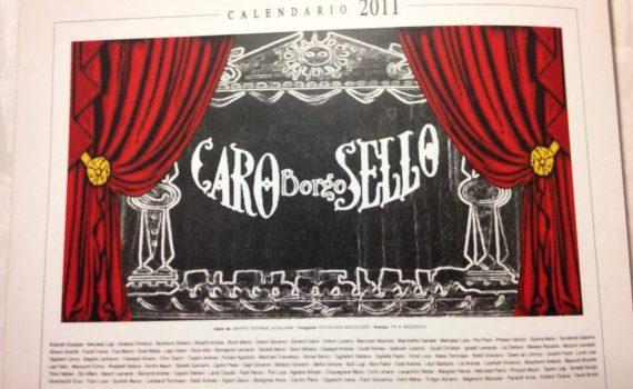 """Calendario """"Caro Borgo-sello"""""""