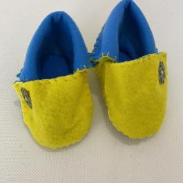 Scarpine gialle e blu 0-3 mesi