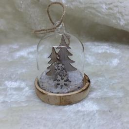 Cupola in vetro pupazzo di neve
