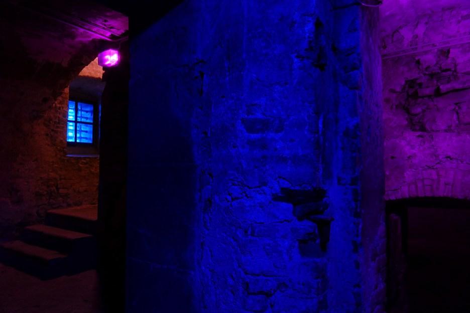 Arsenije Jovanović - Prophecy of the Village Kremna - Il Suono in Mostra 2019 - Old Prisons in the Castle of Udine, Italy - Light Design Alessandra Zucchi - Photo Lara Carrer