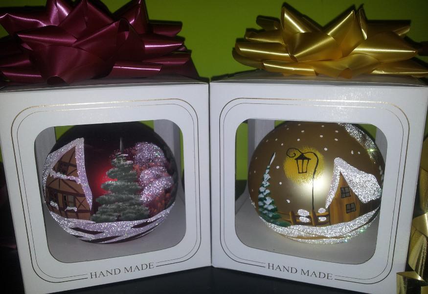 Palle di Natale in vetro dipinto a mano ESAURITE  Il SuperMERCATINO dellUsato
