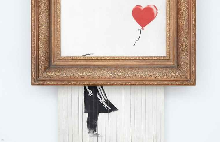 L'opera di Banksy è distruggere la propria opera, ce lo dice Benjamin