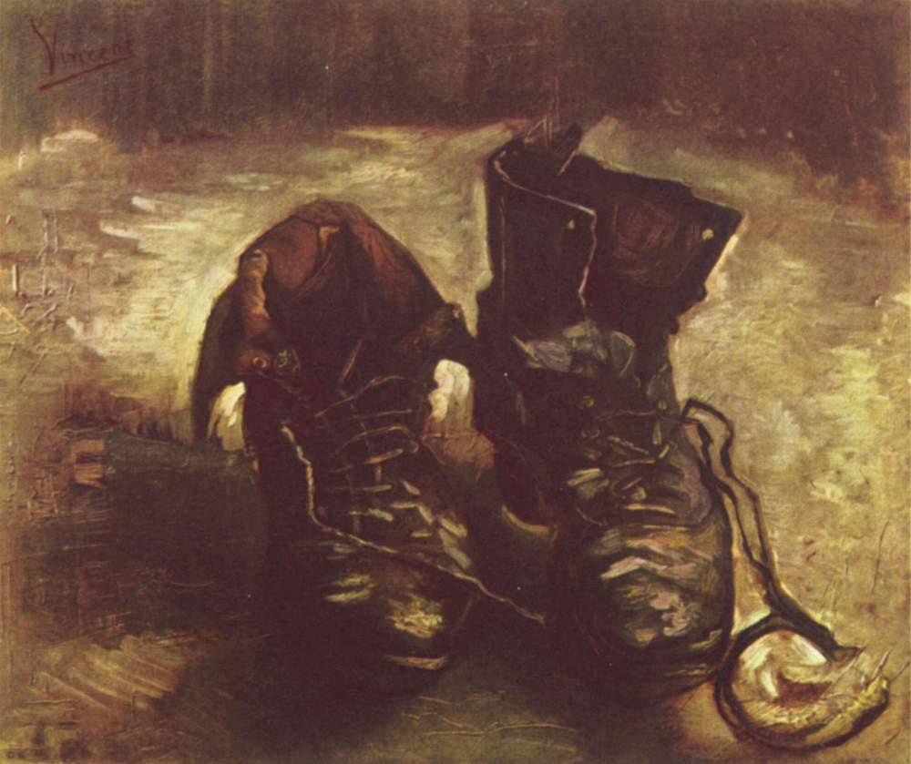scarpe con i quadri di van gogh
