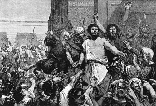 """""""Liberate Barabba"""" in una stampa britannica"""