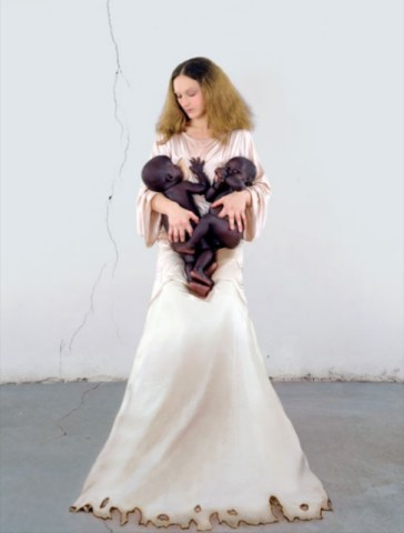 V. Beecroft, White Madonna with twins, 2006