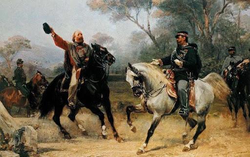 Incontro tra Garibaldi e Vittorio Emanuele II