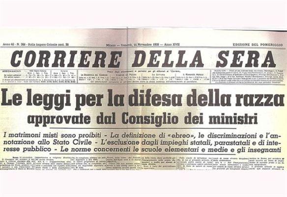 80 anni fa la prima pubblicazione della legge razziale in Italia