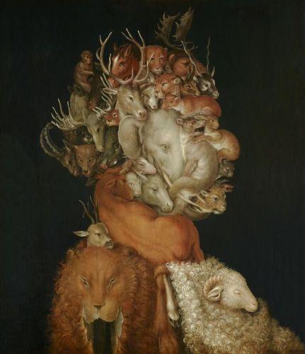 """La terra"", 1566 Olio su tavola Giuseppe Arcimboldo. Vienna, Lichtenstein- The Princely Collections"
