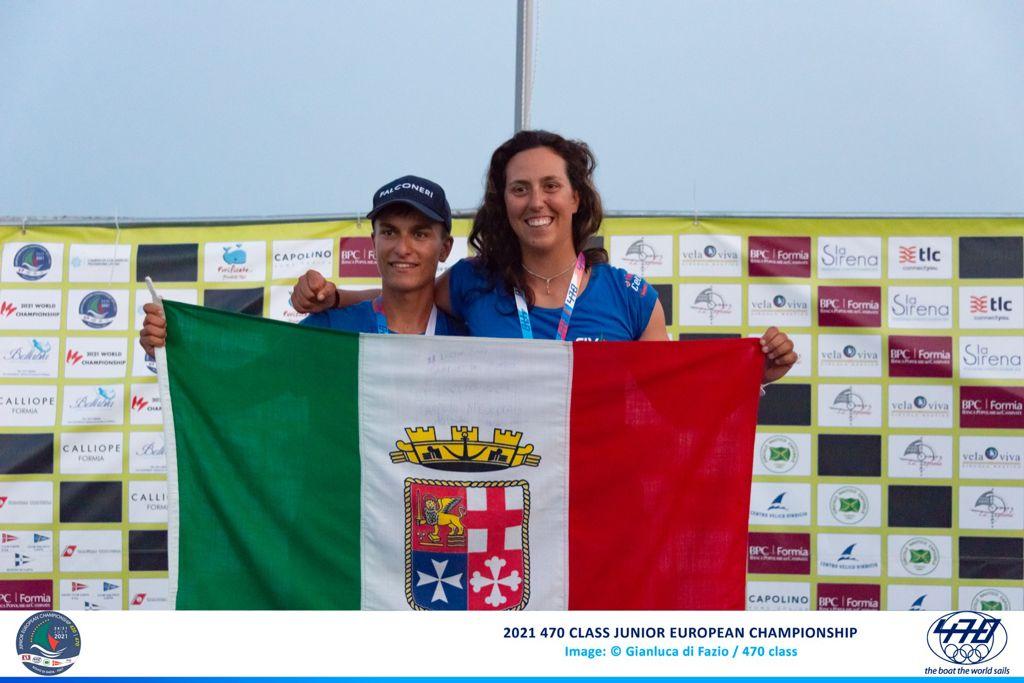 Alessandra Dubbini la prodiera delle Fiamme Gialle di Gaeta campionessa juniores europea e mondiale nel 470