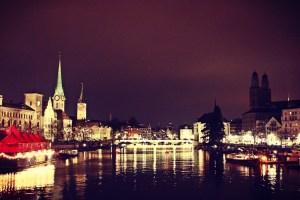 Marcatino centro storico Natale a Zurigo