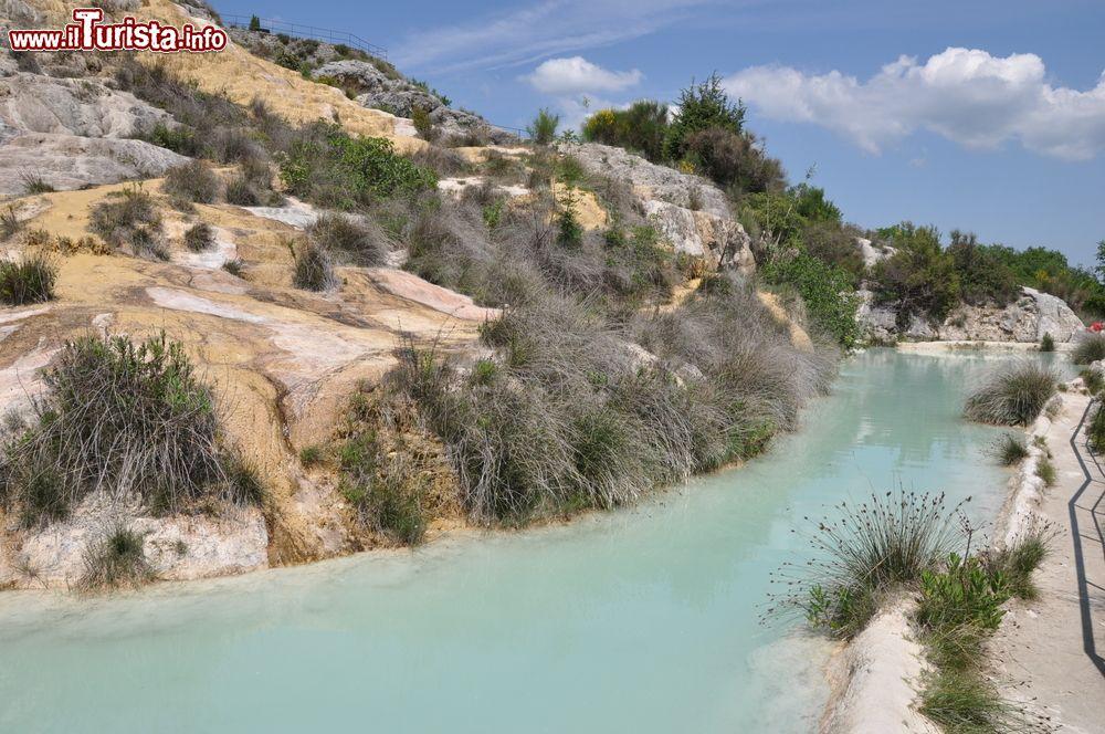Le Terme Libere di Bagno Vignoni in Toscana  Foto Bagno