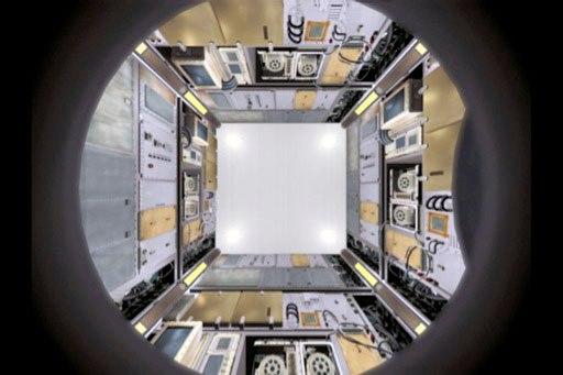 Interior de la aeronave H-II Transfer Vehicle (HTV)