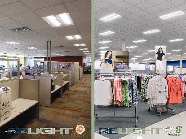 Renueva tus espacios con la tecnologia RELIGHT: RT5R / ES8R