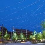 Cielo de LEDs en la Plaza Hyllie en Suecia