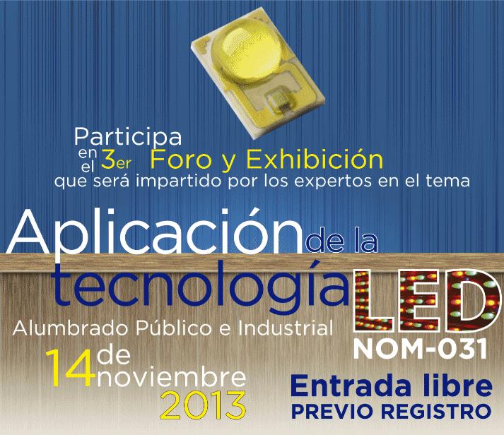 foro y exhibición aplicación de la tecnología led