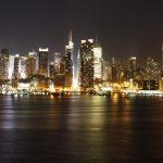 Luz y música en los rascacielos de Nueva York