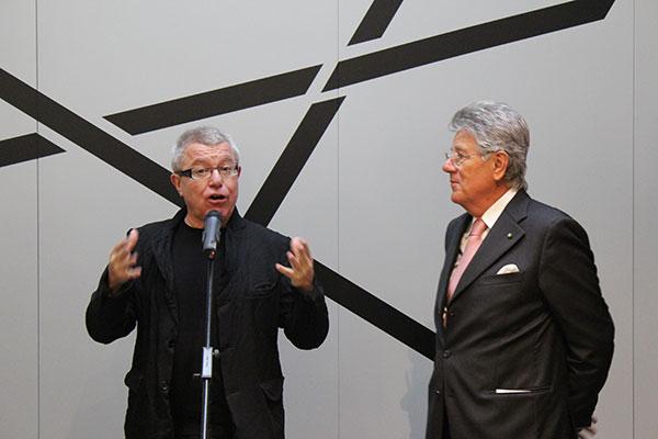 Daniel Libeskind y Adolfo Guzzini durante la presentación de Bio-radix