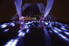 Affinity Interactive Art Installation – BCP Building, Perú; de Claudia Paz.