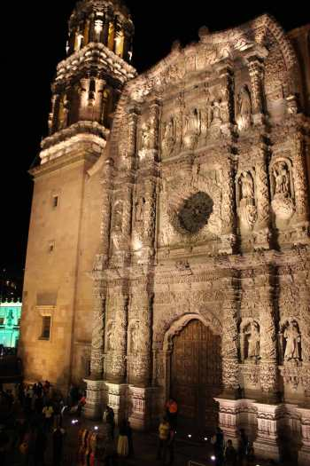 zacatecas catedral iluminacion