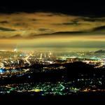 Contaminación lumínica evaluada por imágenes satelitales
