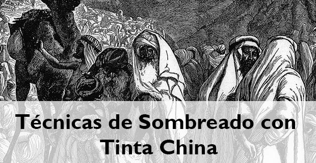 técnicas de sombreado con tinta china