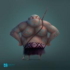 guerrero-maori-dibujo-juan-martin-bueno-1