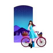 paula-barbaro-vectores-chica-bicicleta